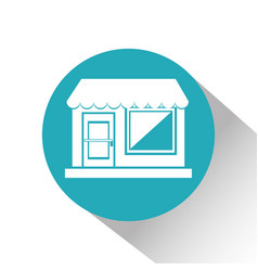 Building store isolated icon vector