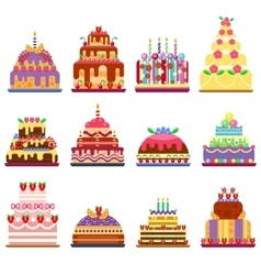 Cake pie isolated vector