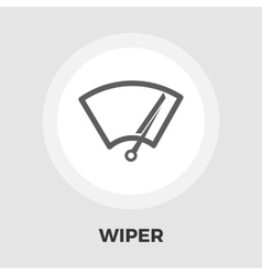 Car wiper flat icon vector image