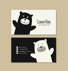 card design with funny bear vector image