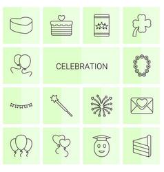 celebration icons vector image