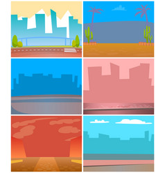 cityscapes and urban territories city and town vector image