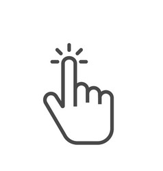 Click finger icon clicking pointer isolated on vector