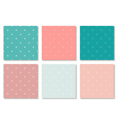 collection colorful seamless minimalistic vector image