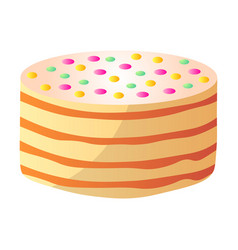 colorful birthday cake for children party day vector image