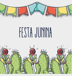 colorful concept related with festa junina vector image