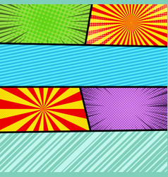 comic pages colorful composition vector image
