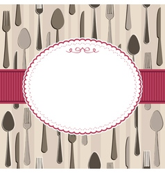 cutlery frame vector image