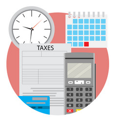 Day of payment taxes icon app flat vector