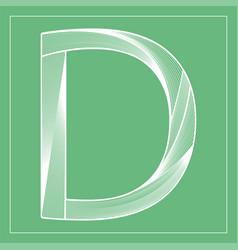 Decorative font stylized letter d vector