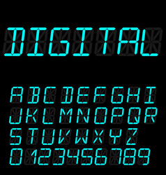 digital font sign retro alphabet vector image