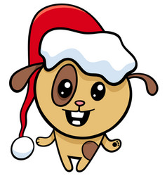 Dog on christmas cartoon vector