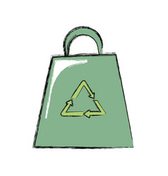 eco recyclabe bag vector image