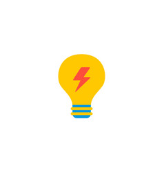 electricity icon flat element vector image