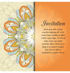 ethnic design card vector image