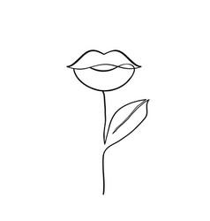 Female lips plant vector