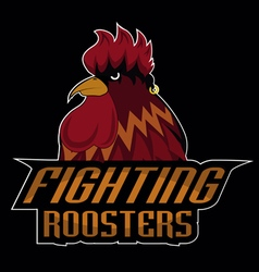 Fighting roosters logo disign vector