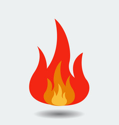 flame logo icon isolated on background modern fla vector image