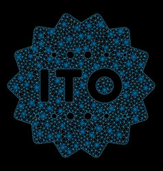 flare mesh network ito token with flare spots vector image