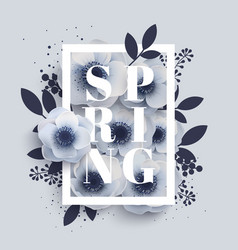 Flower arrangement with word spring vector