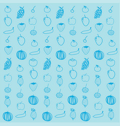 Fruit background pattern vector