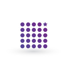 geometric abstract square shape out of dots and vector image