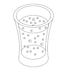 Glass of carbonated drink icon isometric 3d style vector