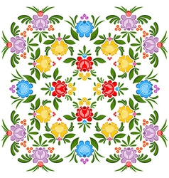 Gorodets painting pattern Floral ornament Russian vector