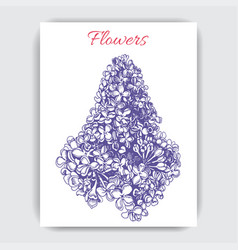 hand draw colorful with lilac vector image