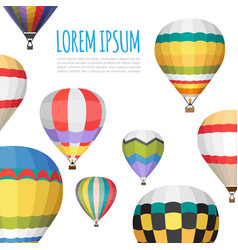 Hot air balloon backgraund vector