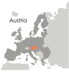 Isolated austria map design vector