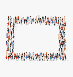Large group people background people frame vector
