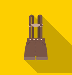 Lederhosen icon in flat style isolated on white vector