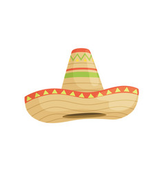 Mexican sombrero hat traditional symbol of mexico vector