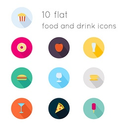 Modern flat icons collection with long shadow vector image vector image