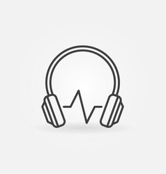 modern headphones with sound wave icon in vector image
