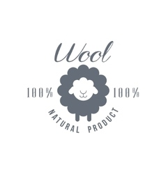 Natural Wool Product Logo Design vector image