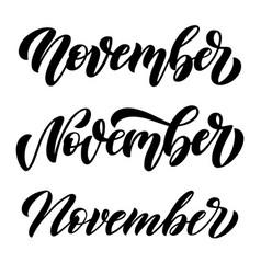 November set three minimalistic black and vector