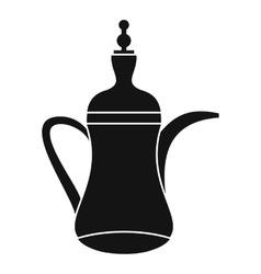 Oriental teapot icon simple style vector