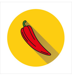 Pepper simple icon on white background vector
