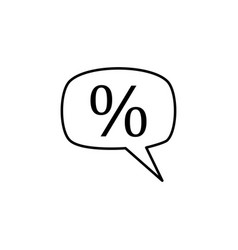 percentage icon vector image