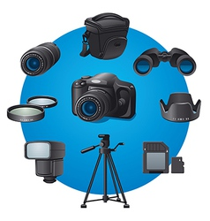 photo devices vector image