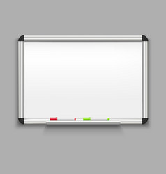 realistic detailed 3d whiteboard vector image