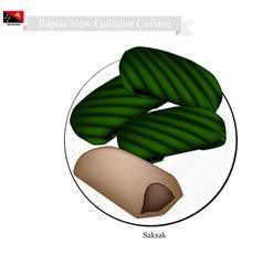 Saksak Papua New Guinean Cuisine vector