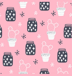 Seamless hygge scandinavian pattern vector