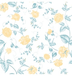 Seamless texture of roses for textiles vector image