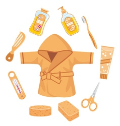 Set of things for bathing vector image
