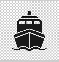ship cruise sign icon in transparent style cargo vector image