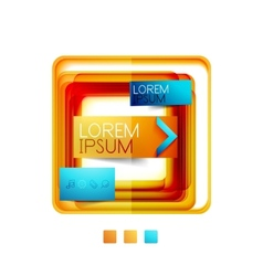 Square web design boxes vector image