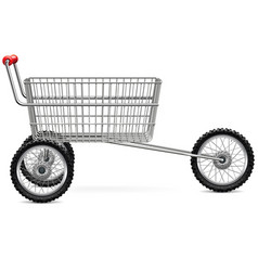 Supermarket trolley for bikers vector